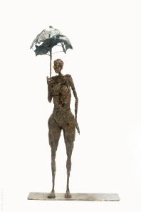 Sculpture Sophie Jouan - En attendant le soleil