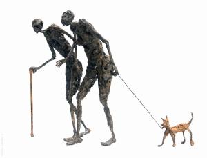 Sculpture Sophie Jouan - Les vieux