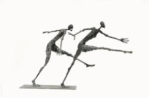 Sculpture Sophie Jouan - Un train a prendre